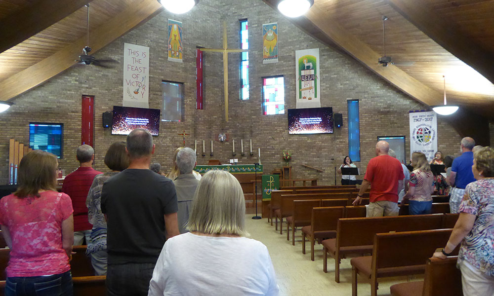 Indoor Worship at Our Lord's Lutheran Church